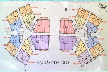 Bán lại CH tầng 1209 (61,94m2) và 1205 (115m2) chung cư CT1 Yên Nghĩa, giá 12tr/m2. LH 0963777502