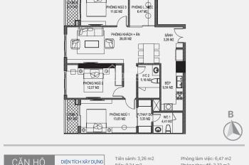 Chính chủ cần tiền bán căn hộ Sunshine Tây Hồ, T1802- CT2, DT: 65,61m2, 38 tr/m2. LH: 0934485810