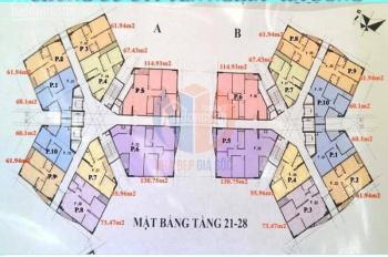 Cắt lỗ CH 4pn A-2205 (115m2) ở CT1 Yên Nghĩa -Hà Đông (chung cư Bộ tư lệnh) chỉ 11tr/m2, 0919130482