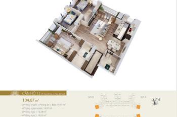 CC bán căn góc C-02 (ĐB - ĐN), tầng cao, view nhạc nước Times City dự án Imperia Sky Garden