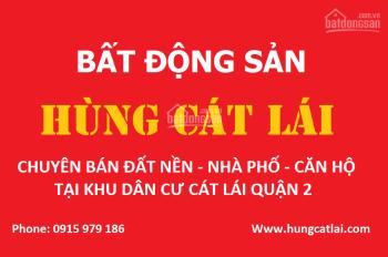Bán đất cát lái quận 2, sổ đỏ cá nhân, DT 85m2 - 200m2, giá từ 35 Triệu/m2, LH 0915979186 Mr. Hùng