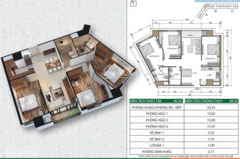 Chính chủ bán gấp căn hộ 95,55m2 – 3 ngủ tòa HH2A Xuân Mai. Giá cắt lỗ 1,450 tỷ.