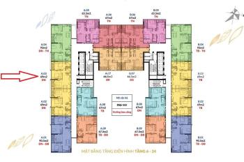 Cần tiền chuyển nhượng căn hộ chính chủ tầng 12, ban công Đông Nam, chung cư Athena Pháp Vân, 610tr