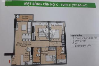 Cho thuê căn hộ chung cư Era Town Đức Khải 97m2, 3PN, full NT giá 12tr, liên hệ Huy 0916887727