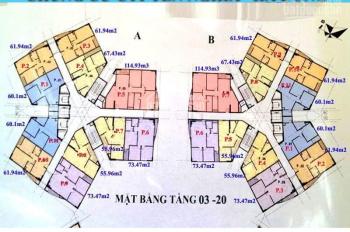 Chính chủ bán căn hộ chung cư CT1B Yên Nghĩa căn 1510 dt 61.94m2 giá 12.5tr/m2. LH 0964320600