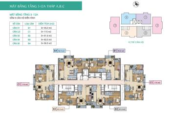Bán căn hộ CC Xuân Phương Báo Nhân Dân căn 1001 tòa C, DT 95.6m2, giá 21.5tr/m2. LH: 0904999135