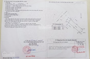 Chính chủ bán lô đất 4x16m, 64m2 tại MT số 50, phường 14, Gò Vấp, liền kề TTTM quận