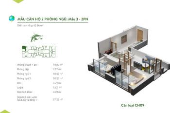 Bán căn hộ chung cư Green Bay Garden Hạ Long A2609 62.86m2, 2PN, view trực diện biển, giá 1,650 tỷ