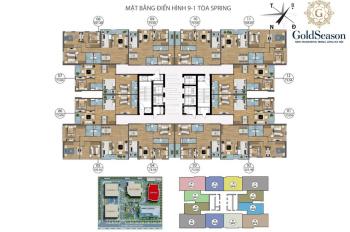 Bán gấp căn hộ Spring GoldSeason 47 Nguyễn Tuân, 77,5m2, 2.6 tỷ