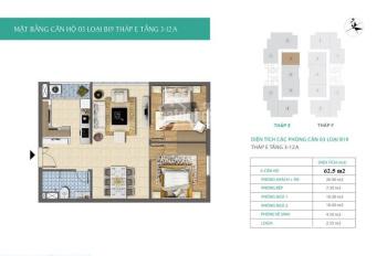 Bán căn hộ CC 63m2, 2PN, 1WC, xây cho cán bộ Trung ương Đảng, gần SVĐ Mỹ Đình. LH 0914 553 572