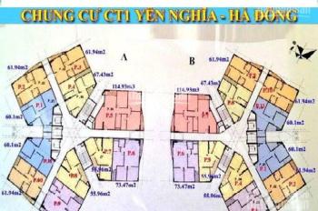Gia đình có suất mua muốn nhượng lại tại dự án CT1 Yên nghĩa. Căn 3 phòng ngủ giá gốc 10.9tr/m2