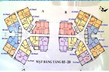 Chính chủ bán chung cư CT1 Yên Nghĩa căn 1502, tòa B, DT 61.94m2, giá 12tr/m2. LH 0963777502