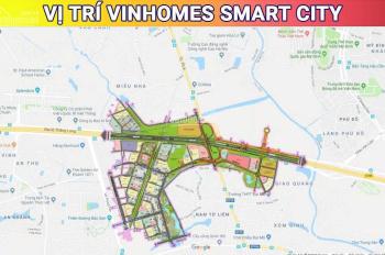 BÁN SHOPHOUSE VINHOMES SMART CITY 4 TẦNG 1 TUM HOÀN THIỆN MẶT NGOÀI. LH: 0986850534
