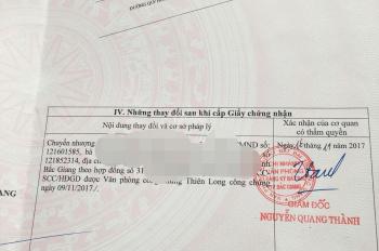 Chính chủ bán lô đất DT 72m2, 2 mặt tiền, khu đền Xương Giang, TP Bắc Giang. LHCC: 0916089828