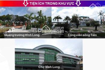 Còn 2 lô đất Vĩnh Long New Town, đã có sổ chỉ 837 triệu, DT 112,5m2, đường lớn 30m LH 0901193786