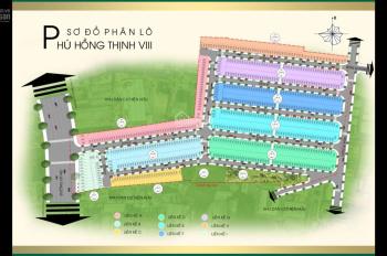 Phú Hồng Thịnh 8 còn 1 vài nền giá đầu tư tất cả cáC trục đường. Hỗ trợ ngân hàng 80%