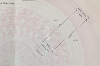 24tr/m2: đất tái định cư Trại Lẻ - Quán Nam, 4.8x16.25m, hướng Tây Nam