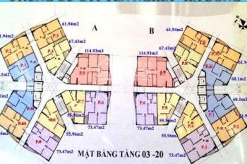 C Mai 0976 807 257, chính chủ bán gấp CC CT1 Yên Nghĩa, căn 1603, DT: 61.94m2, giá 12 tr/m2