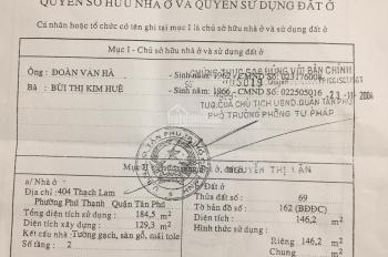 Chính chủ bán nhà mặt tiền đường Thạch Lam, P. Phú Thạnh, Q Tân Phú, DT 5,3x27m. Giá 13,5 tỷ còn TL