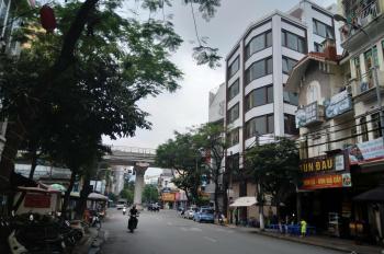 Cho thuê 5 tầng + 1 trệt, góc ngã 4 Cầu Giấy - Trần Quý Kiên, 190m2/sàn, MT 12m, bãi đỗ ô tô 3000m2