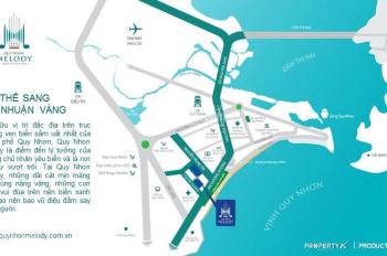 Mở bán block mặt biển dự án Quy Nhơn Melody, trả góp 3 năm 0%ls, chiết khấu 1,5-18%. LH: 0949387379