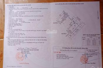 Bán nhà hẻm 229 Tây Thạnh, Tân Phú, DT: 4x7.3m, đổ 1 tấm, giá 2.75 tỷ. LH: 0908060303