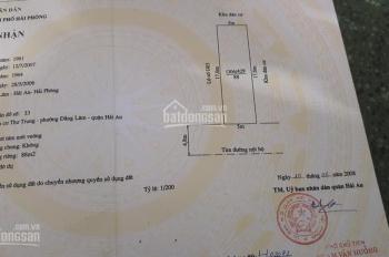 Bán đất phố 333B Văn Cao, Hải An, Hải Phòng, 176m2, giá 6,86 tỷ