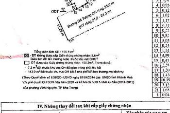 Bán lô đất Dã Tượng, Phường Vĩnh Nguyên, thành phố Nha Trang, tỉnh Khánh Hòa, LH: 0908.133.447