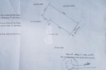 Bán 89.2m2 đất An Lạc 2, Sở Dầu, Hồng Bàng. Giá 1.4 tỷ (16tr/m2)