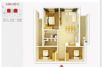 Chị gái mình cần bán căn 07 - 97.19m2 tòa Golden Palace Lê Văn Lương mới chưa ở
