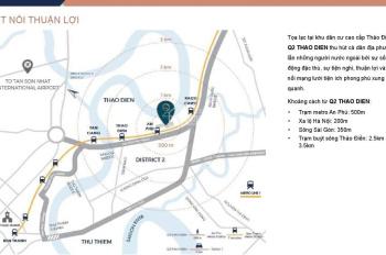 Bán shophouse Q2 Thảo Điền - giá gốc đợt đầu tiên chủ đầu tư - chủ đầu tư cam kết cho thuê lại.