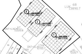 Công ty chúng tôi cần bán 3 nhà xưởng tại xã Long Nguyên, Bàu Bàng, Bình Dương