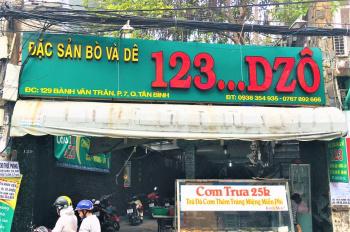 Mặt tiền kinh doanh 129 Bành Văn Trân, P. 7 TB. Diện tích 6.8m x 45.5m nở hậu 15m, sổ hồng đầy đủ