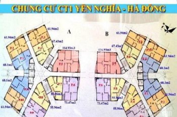 Chính chủ bán gấp căn hộ chung cư CT1 Yên Nghĩa, DT 55m2, 2PN-2VS giá bán: 12tr/m2. LH 0901798296