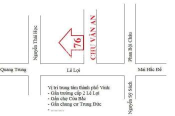 Cho thuê nhà làm văn phòng thành phố Vinh