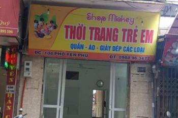 Chính chủ cần bán nhà mặt phố, 4 tầng, đang kinh doanh tốt tại số 108B phố Yên Phụ nhỏ, Tây Hồ