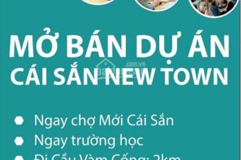 Đất nền khu phố chợ Cái Sắn New Town, 90m2, chỉ 645 triệu. LH 0938 415 963