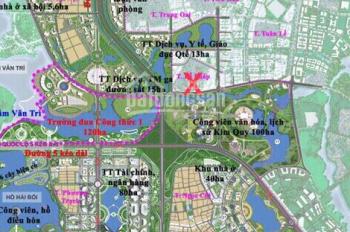 Bán 95m2 nhà đất trung tâm thôn Lễ Pháp hai mặt tiền, giáp công viên Kim Quy. Cách cầu Nhật Tân 1km