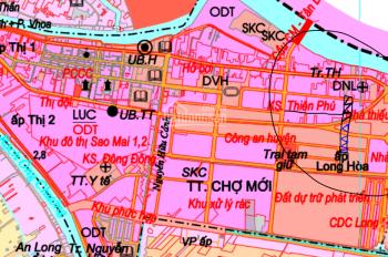 Bán đất rẻ nhất khu vực, MT DT 12x84m (600m thổ cư) TL942, TT Chợ Mới, gần siêu thị, bến xe 100 mét