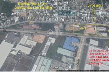 Lô đất 400m2 giá sập sàn, MT đường Âu Cơ, gần chợ Hòa Khánh, giá siêu rẻ