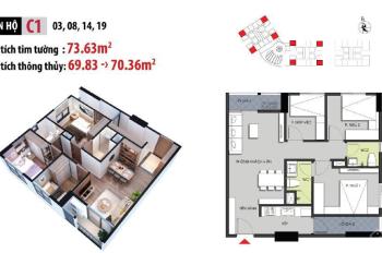 Chính chủ bán chung cư Hateco Apollo Xuân Phương căn hộ 3 phòng ngủ