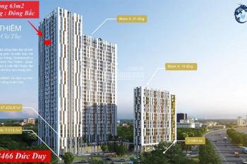 Tầng 26 - Bán gấp căn hộ 2PN 63.8m2 balcony Đông Nam mát mẻ, dự án Centana Thủ Thiêm An Phú, Q2