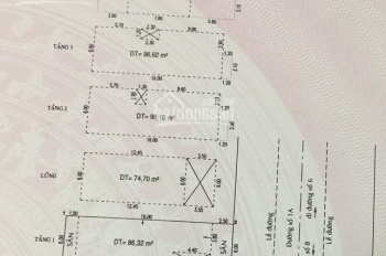 Bán nhà đường 1A khu Trung Sơn, 6x20m, nhà có thang máy, 5 lầu, 8PN, 7WC, Lh 0938234510