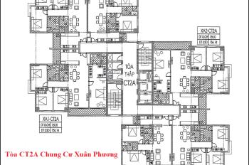 Tôi bán gấp CC Xuân Phương Quốc Hội căn 16C2, tòa CT2A, dt 93m2, giá 18.5tr/m2. LH 0966225461