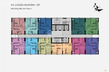 0987885488 chính chủ bán căn hộ 1505 DT 65m2 chung cư 32T The Golden An Khánh, giá bán 1.3 tỷ