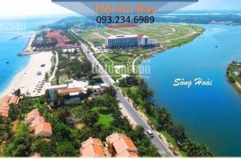 Cần bán gấp lô đất xây khách sạn 1700m2 sổ đỏ mặt sông Hoài giáp biển Cửa Đại. LH 093.234.6989