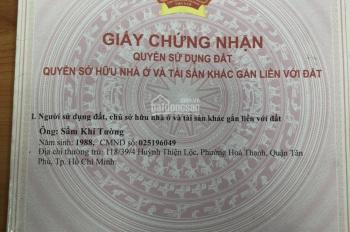 Bán nhà đường Lê Đình Cẩn, quận Bình Tân, giá 2.5 tỷ, liên hệ xem nhà: 084 991 5986