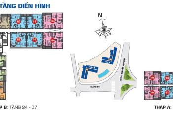 Sunrise City View bán căn hộ 76,6m2, 2 phòng ngủ, 2 toilet, nhà thô có ban công
