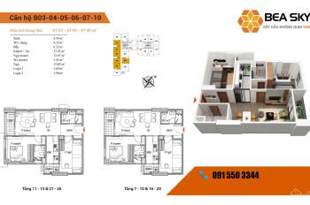 Bán 3 suất ngoại giao Bea Sky-Nguyễn Xiển giá 1tỷ8,LH:091 550 3344