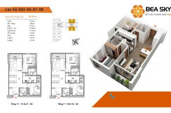400 triệu sở hữu ngay chung cư Bea Sky Nguyễn Xiển view phố cổ, CV chu văn an 100ha và quà tặng 30T